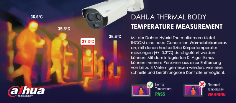 Dahuas Thermal Body Körpertemperaturmessung
