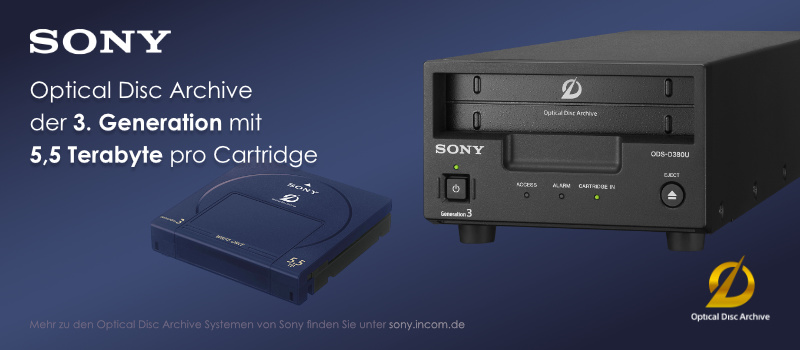 Sony Optical Disc Archive der 3. Generation
